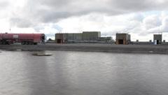 Oil Refinery in Prudhoe Bay Alaska (HD) c - stock footage