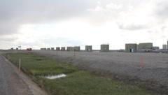 Oil storage in Prudhoe Bay Alaska (HD) c - stock footage