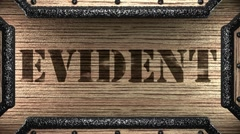 Evident on wooden stamp Stock Footage