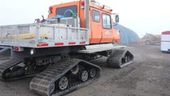Equipment yard in Prudhoe Bay Alaska (HD) c - stock footage
