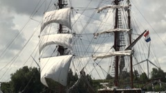 Sails and rigging Stock Footage