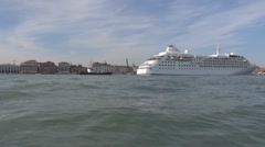 Boats traffic on Grand Canal, Venice, Italy - stock footage