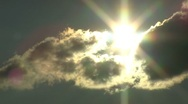 Stock Video Footage of hidden sun dark cloud