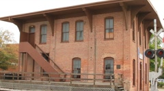 Train depot where Abraham Lincoln left to become president of the US Stock Footage