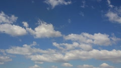 Time lapse blue sky with white clouds 2 HD 1080p Stock Footage