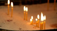 Stock Video Footage of Candles on the altar