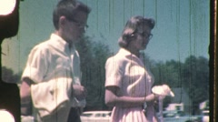 Teenagers Rehearse for High School Prom Circa 1965 (Vintage Film Home Movie) 731 - stock footage