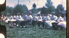 PRACTICE Rehearsal High School Prom Band 1960s Vintage Film Home Movie 733 - stock footage