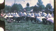 PRACTICE Rehearsal High School Prom Band 1960s Vintage Film Home Movie 733 Stock Footage