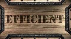 efficient on wooden stamp - stock footage