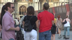 People in Piazza San Marco in Venice, Italy Stock Footage