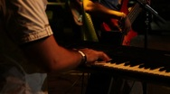 Stock Video Footage of pianist playing piano on stage