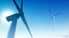 "Wind energy dual power ( Color series 3 - Version from 1 to 5 )""Think Different"" Stock Footage"