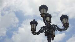 Light Post Sky Timelapse Stock Footage