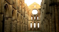 Sunlit abbey Stock Footage