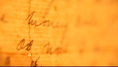 Vintage handwriting Stock Footage