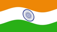 INDIAN FLAG WAVING - stock footage