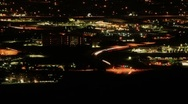 Stock Video Footage of Seamless Loop - Aerial View of Traffic at Night Timelapse