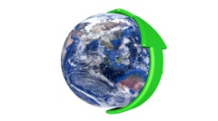 ecological symbol in rotation with the world - stock footage