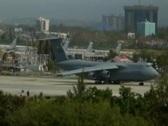 C-5 Lockheed Galaxy USAF - US Air Force Jet 7b Stock Footage