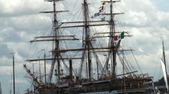 Tall ship rigging Stock Footage