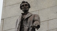 Stock Video Footage of Lincoln Emancipation Proclamation statue at his tomb