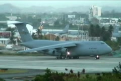 C-5 Lockheed Galaxy USAF - US Air Force Jet 5b Stock Footage