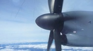 Stock Video Footage of Sky High Airplane Propellor