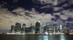 Stock Video Footage of Downtown NYC time lapse