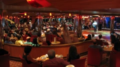 Performance in bar on board of cruise ship Stock Footage