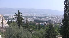 Overlooking City of Athens, Greece by Metropolis Stock Footage