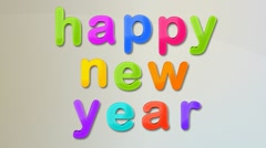 Happy New Year Magnets HD Stock Footage
