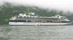 Celebrity Cruises liner at bay Stock Footage