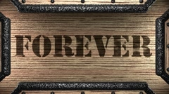 forever on wooden stamp - stock footage