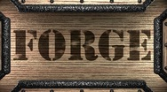 Forge on wooden stamp Stock Footage