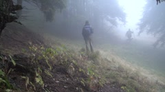 Stock Video Footage of Walking in fog