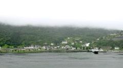 Little port in village Hellesylt, time lapse Stock Footage