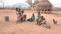Kenya: Poor Kids Living in a Drought Stock Footage