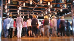 Passengers study new dance moves on board of cruise ship Stock Footage