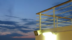 Night sky at sea, view from cruise ship, time lapse Stock Footage