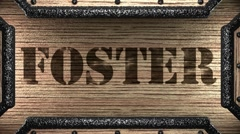 foster on wooden stamp - stock footage