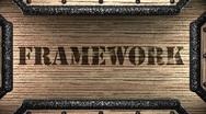 Framework on wooden stamp Stock Footage