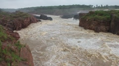 Raneh falls during monsoon period, India - stock footage