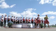 Big Moscow regatta award ceremony Stock Footage