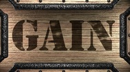 Gain on wooden stamp Stock Footage
