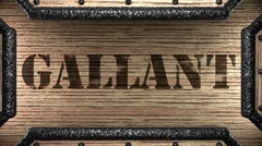 gallant on wooden stamp - stock footage