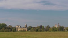 Looking across Christchurch Meadow, Oxford. Time lapse Stock Footage