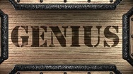 Stock Video Footage of genius on wooden stamp