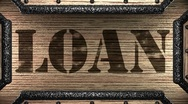 Stock Video Footage of loan on wooden stamp