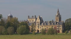 Christchurch College, Oxford, across Christchurch meadow. Stock Footage